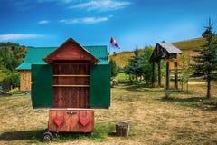 Obóz w Uvac od Serbia Zdjęcia Stock