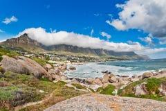 Obóz zatoki plaża Południowa Afryka Zdjęcie Royalty Free