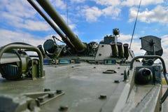 Obús automotor ruso de la artillería fotografía de archivo