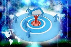 Obłoczna biznesowa sieć Obraz Stock
