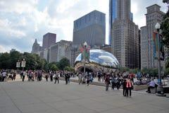Obłoczna brama przy milenium parkiem Chicago, Illinois zdjęcia royalty free