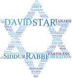 obłoczna David gwiazdy etykietka royalty ilustracja