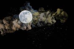 Obłoczna księżyc ilustracji