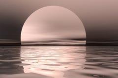 obłoczna oceanu nieba widok woda obraz stock