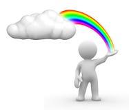 obłoczna rainbow Zdjęcie Royalty Free