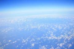 Obłoczne formacje widzieć od samolotu Obrazy Stock