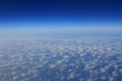 Obłoczne formacje widzieć od samolotu Obrazy Royalty Free