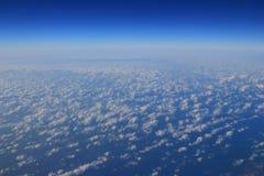 Obłoczne formacje widzieć od samolotu Obraz Royalty Free