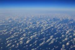 Obłoczne formacje widzieć od samolotu Fotografia Stock