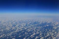 Obłoczne formacje widzieć od samolotu Obraz Stock