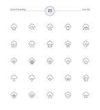Obłoczne ikony ustawiać, Wektorowa ilustracja Zdjęcia Stock