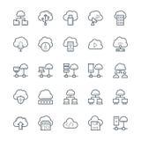 Obłoczne Oblicza Chłodno Wektorowe ikony 3 ilustracji