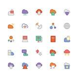Obłoczne Oblicza Wektorowe ikony 2 Zdjęcia Royalty Free