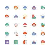 Obłoczne Oblicza Wektorowe ikony 4 Zdjęcie Royalty Free