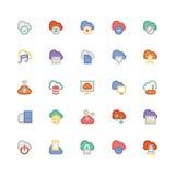 Obłoczne Oblicza Wektorowe ikony 1 Fotografia Royalty Free
