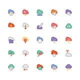 Obłoczne Oblicza Wektorowe ikony 3 Fotografia Stock