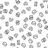 Obłocznego Internetowego poczty rozwiązania Bezszwowy wzór royalty ilustracja