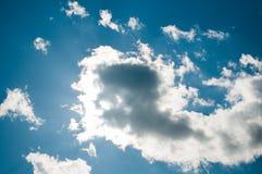 Obłocznej pokrywy słońce Zdjęcie Stock