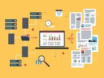 Obłoczni oblicza przyrząda, sieć przesyłania danych i business intelligence, Obrazy Stock