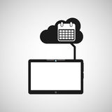 Obłoczni przyrząd kalendarzowej daty medialni apps graficzni Obraz Royalty Free