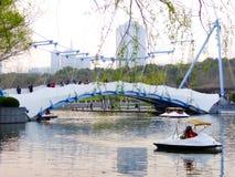 Obłoczny żagla most Obraz Royalty Free