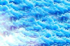 Obłoczny błękitny tło w grunge stylu ilustracja wektor