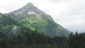 Obłoczny czasu upływ alps halny szczyt Kirchspitze w Tirol Pogodowy odmienianie zbiory wideo