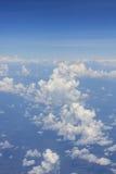 Obłoczny głąbik na samolocie Obrazy Stock