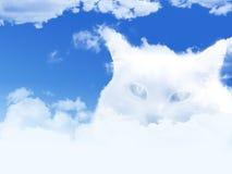 Obłoczny kot ilustracja wektor