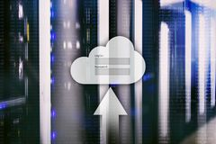 Obłoczny magazyn, dane dostęp, nazwa użytkownika i hasło, prosimy okno na serweru pokoju tle Interneta i technologii pojęcie obraz royalty free