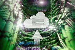 Obłoczny magazyn, dane dostęp, nazwa użytkownika i hasło, prosimy okno na serweru pokoju tle Interneta i technologii pojęcie zdjęcia royalty free