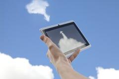 Obłoczny networking ściągania Upload Od chmury obrazy royalty free