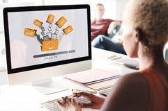 Obłoczny networking Obliczać Wspiera pojęcie Obraz Stock