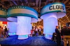 Obłoczny pawilon przy wystawą Oracle OpenWorld konferencja fotografia royalty free