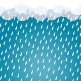 Obłoczny podeszczowy tła błękita wektor Obraz Stock