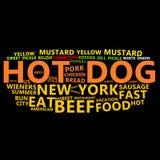 obłoczny psi gorący tekst Zdjęcia Stock
