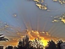 obłoczny słońce Obraz Royalty Free