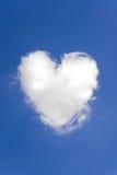 obłoczny serce kształtował Fotografia Royalty Free