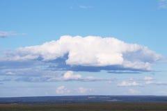Obłoczny zakończenie, zmrok - niebieskie niebo Zdjęcie Royalty Free