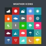 obłocznych ikon podeszczowa słońca pogoda ilustracji