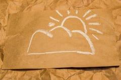 obłocznych ikon podeszczowa słońca pogoda Zdjęcie Royalty Free