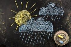 obłocznych ikon podeszczowa słońca pogoda Zdjęcie Stock