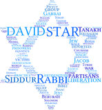 obłoczna David gwiazdy etykietka Obrazy Royalty Free