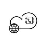 Obłoczna internet technologia Obraz Royalty Free