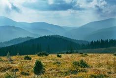 obłoczna krajobrazowa góra Fotografia Royalty Free