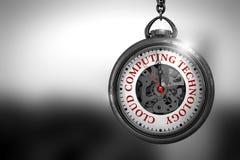 Obłoczna Oblicza technologia na Kieszeniowym zegarku ilustracja 3 d Zdjęcia Stock