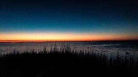obłoczna oceanu nieba widok woda obrazy stock