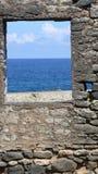 obłoczna oceanu nieba widok woda Obrazy Royalty Free