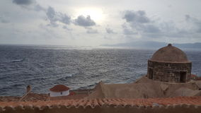 obłoczna oceanu nieba widok woda Zdjęcie Royalty Free