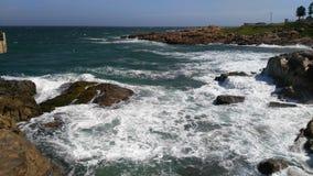 obłoczna oceanu nieba widok woda Zdjęcia Stock